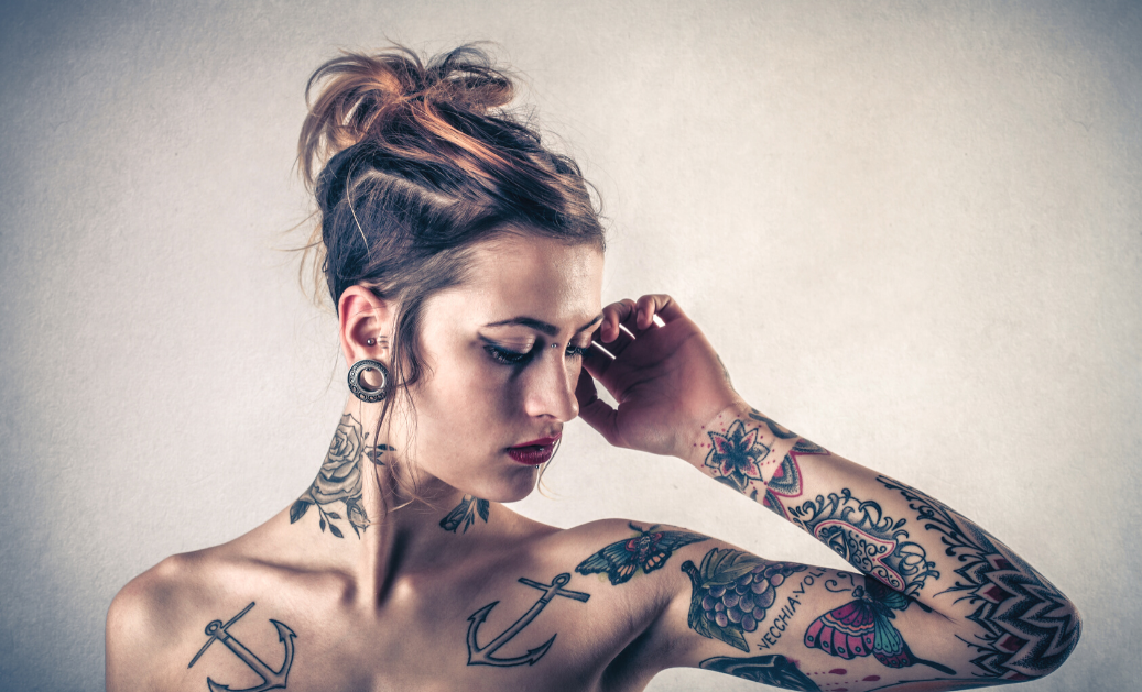 Laser tattoo removal and earlobe repair